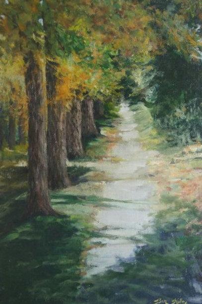 """Fall Walk (24"""" X 36"""")"""