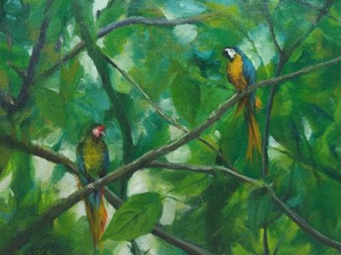 "The Bird Tree (24""x 30"")"