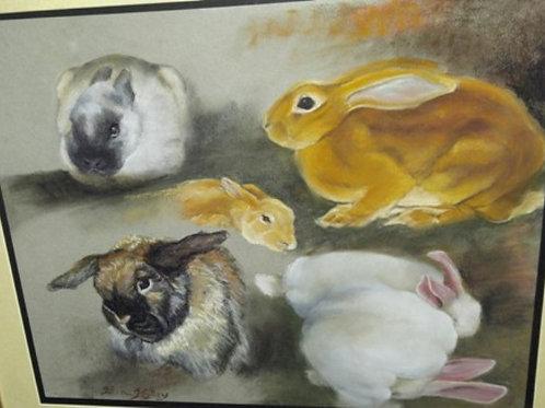 """Bunch of Bunnies (16"""" x 20"""")"""