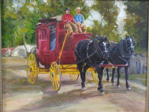 """Red Coach (16"""" x 20"""")"""
