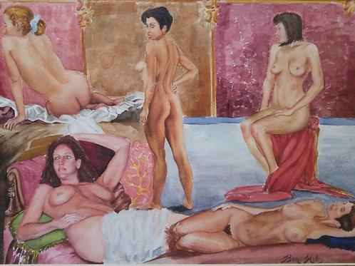 """Nude Study (12"""" x 17"""")"""