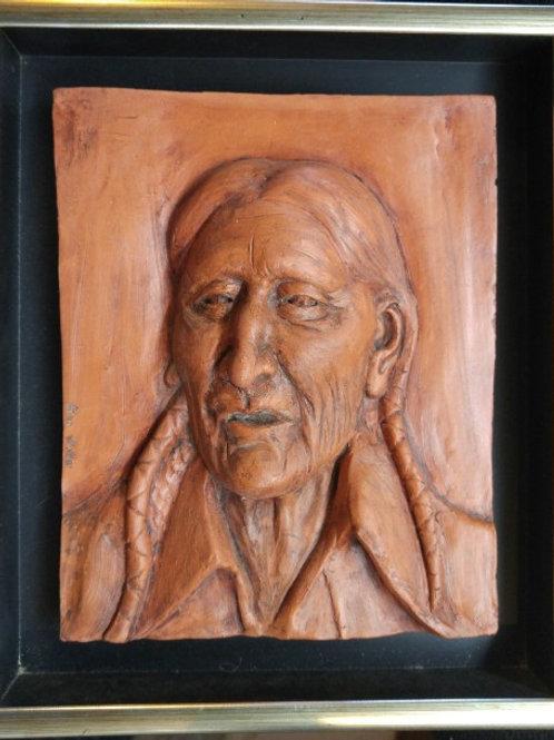"American Indian (8""x 7"") Terra Cotta"