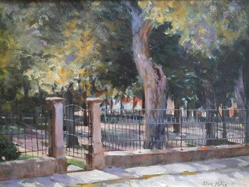 """Church Courtyard (12""""x 16"""")"""