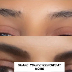 HOW I SHAPE MY EYEBROWS AT HOME /// LOCKDOWN #STAYHOME#STAYSAFE