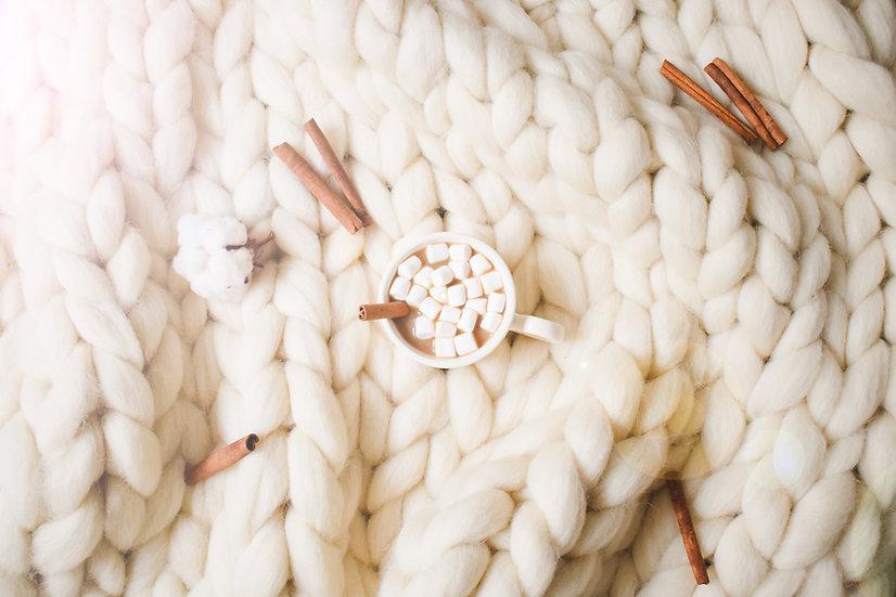 Medium Cream size blanket