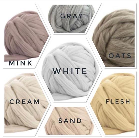 Chunky Merino Wool Yarn 1 lb