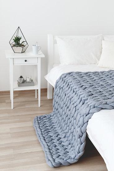 Large Size Merino Chunky Knit Blanket