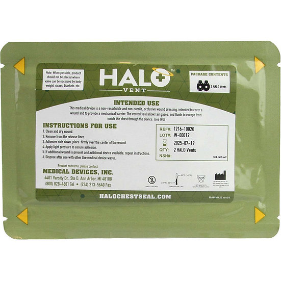 HALO CHEST SEALS VENTED & NON VENTED NEW PACKAGING