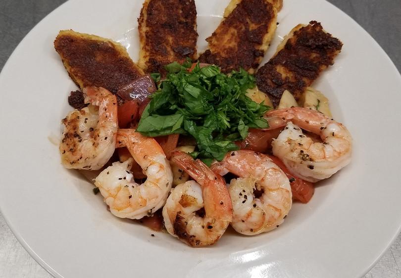Shrimp & Polenta Cakes