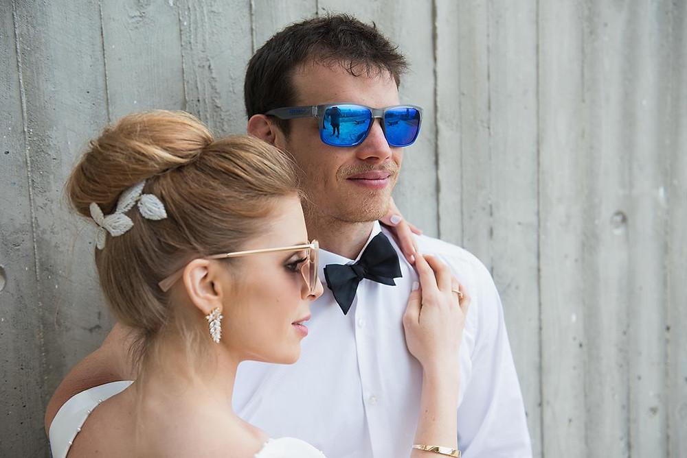 החתונה של סתיו וג'וני | איפור ותסרוקת כלה ליאט בן שמשון | צילום: לוז