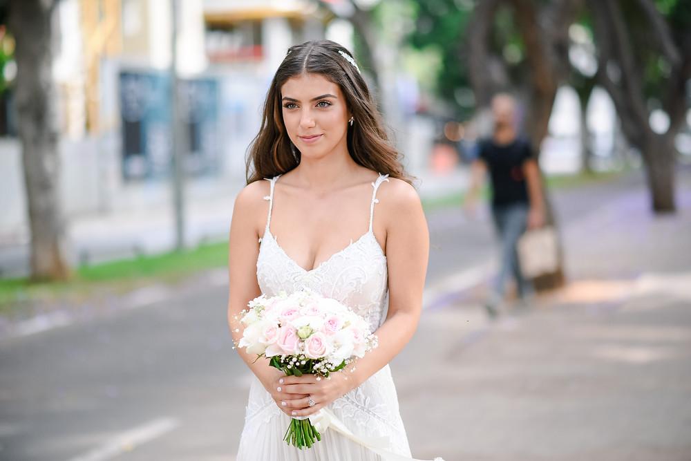 איפור ושיער ליאט בן שמשון | צילומי החתונה של יעל ותומר |  צילום: נופר תגר