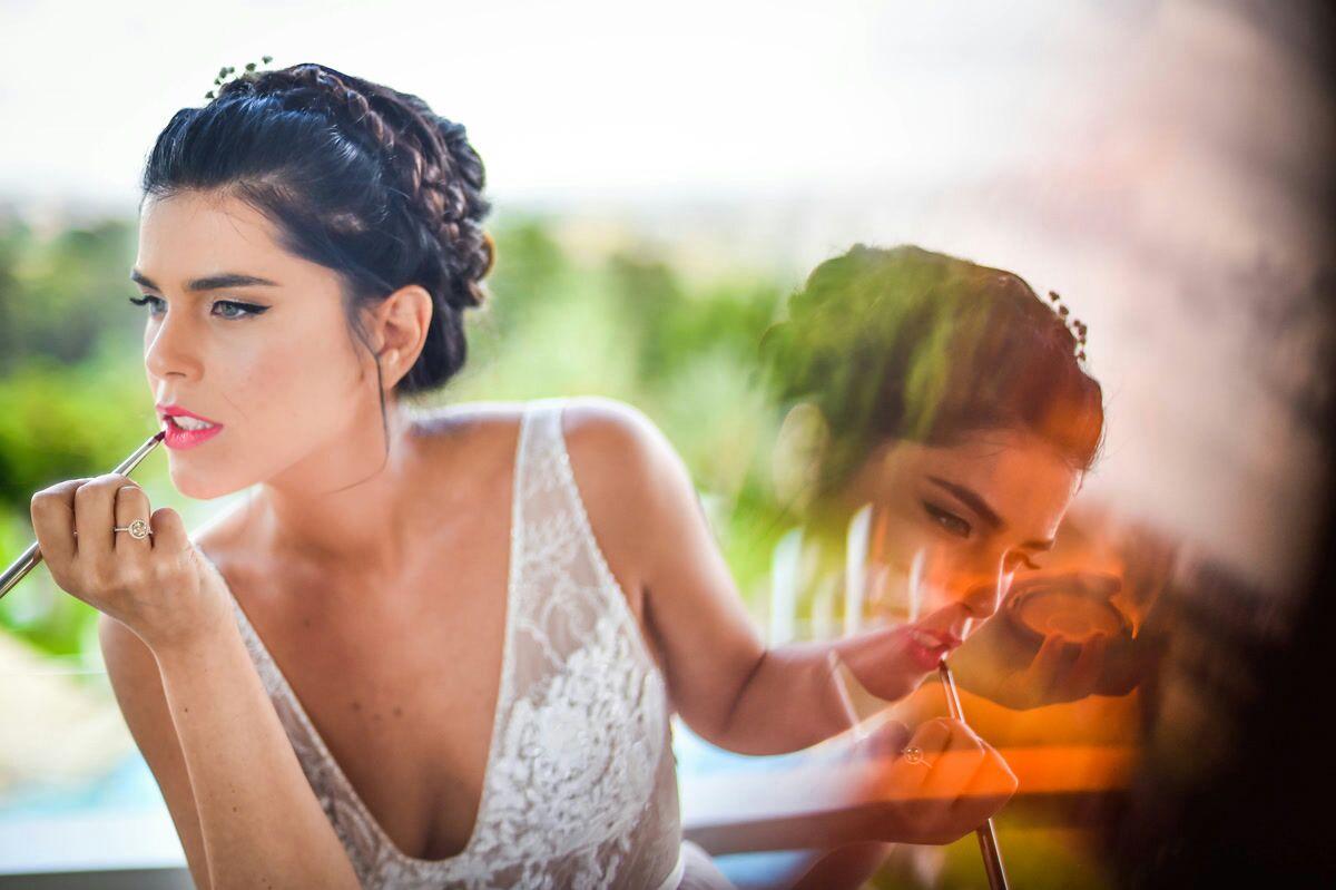 שירן בצילומי החתונה מחדשת שפתון