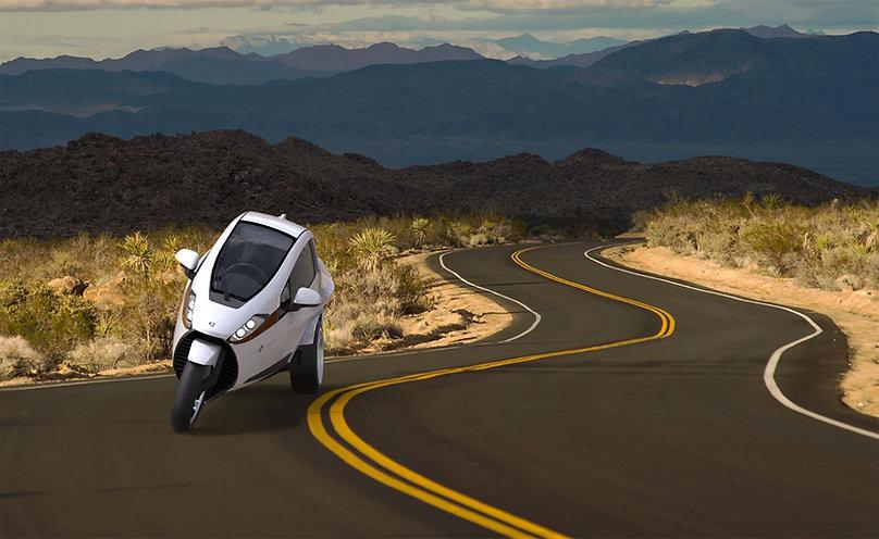 aerodynamic 3 wheel tilting vehicle