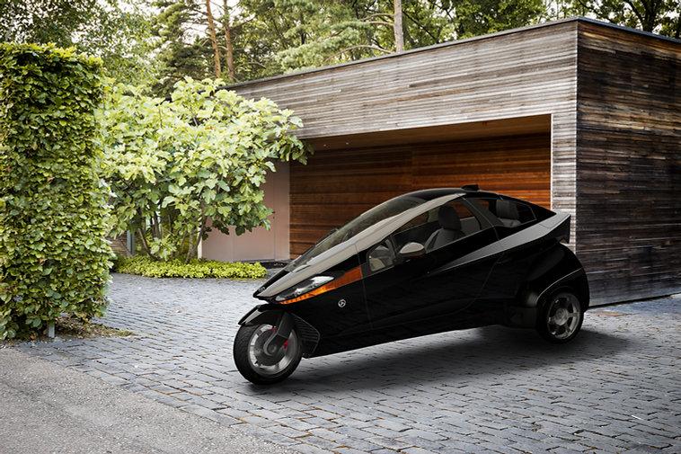 Tilting 3-wheel EV Electric Vehicle