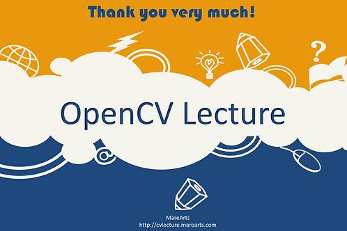 OpenCV Lecture donation