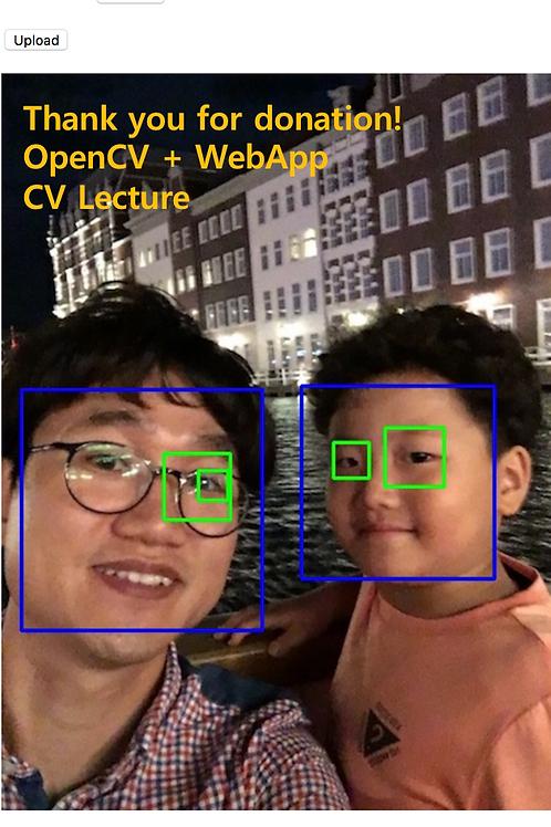OpenCV + WebApp Donation