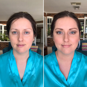 Soft beauty for blue eyed bridesmaid