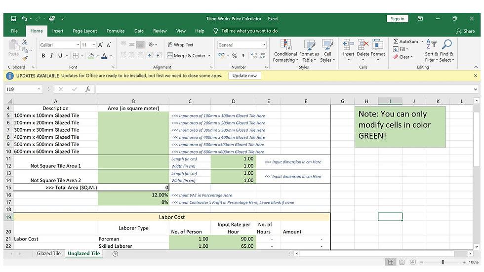 Tiling Works Price Calculator