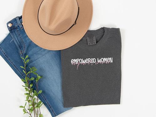 Empowered Women Empower Women (charcoal w/pink)