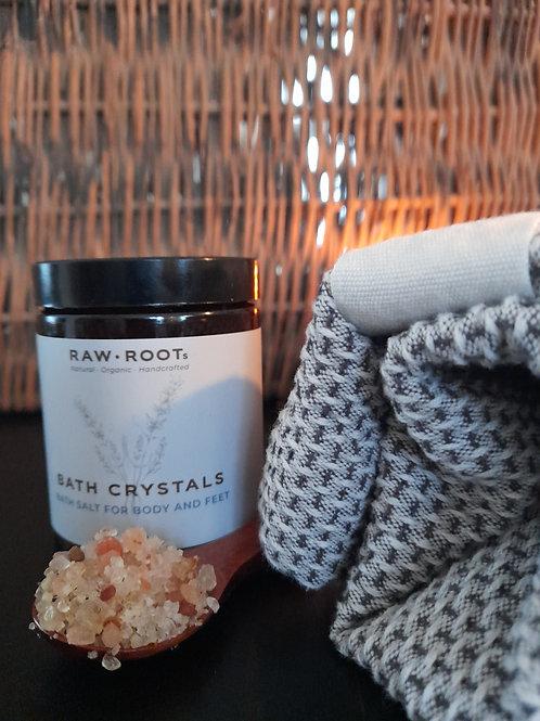 Badekrystaller med ægte krystaller