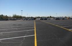 Sealcoated parking lot