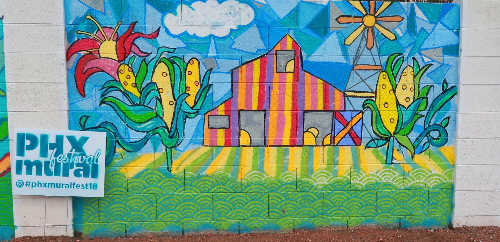 4. Detail phoenix mural festival mountai