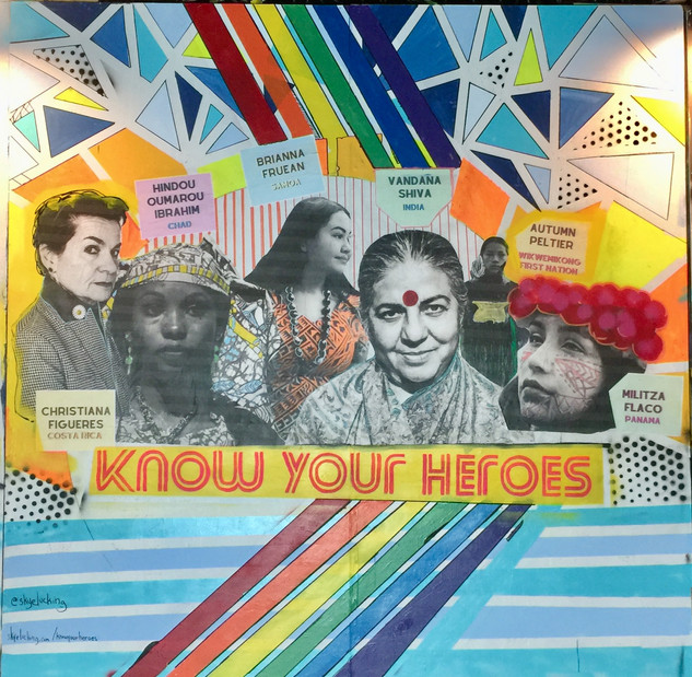 Know Your Heroes - Phoenix Mural Celebrating Women of Color Fighting the Climate Crisis