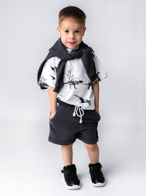 Комплект с шортами графит