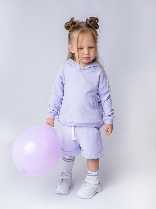 Комплект с шортами лиловый