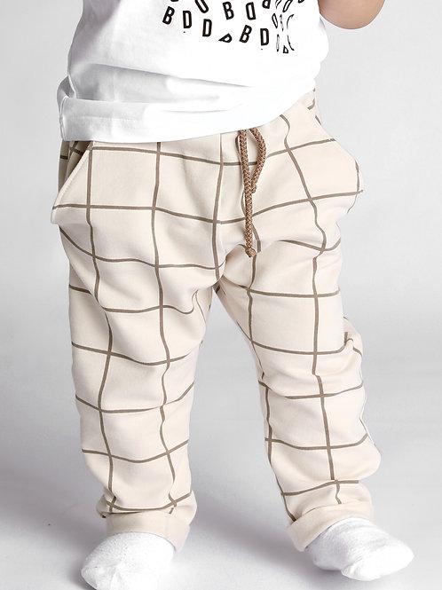 Штаны клетчатые с карманами