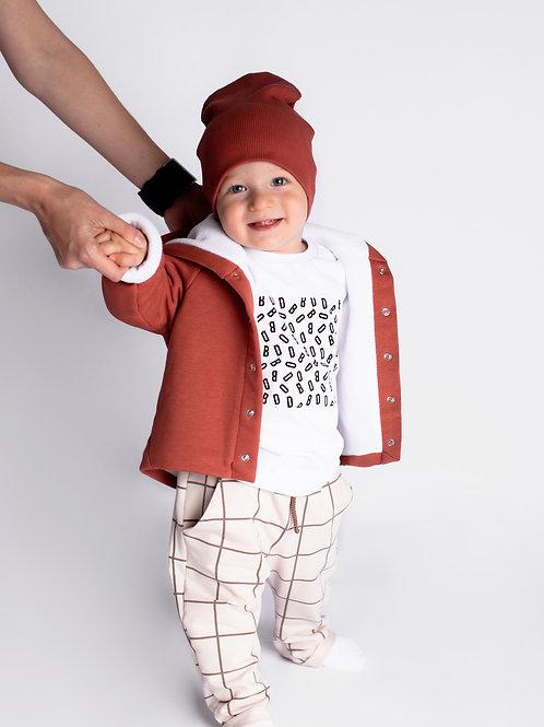 Курточка на кнопках с шапочкой в комплекте