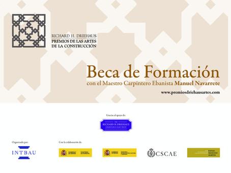 Convocatoria de una Beca de formación con el Maestro Carpintero Ebanista Manuel Navarrete