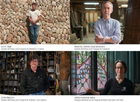 Cuatro artesanos españoles galardonados con 40.000€ en los Premios de las Artes de la Construcción