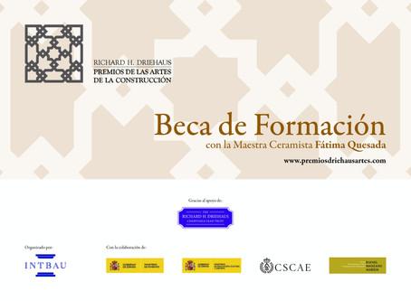Convocatoria de una Beca de formación con la Maestra Ceramista Fátima Quesada