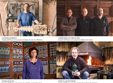 Cuatro artesanos españoles galardonados con 10.000€ en los Premios de las Artes de la Construcción