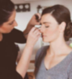 sonja maree makeup artist adelaide completing makeup on a beautiful bride for her wedding