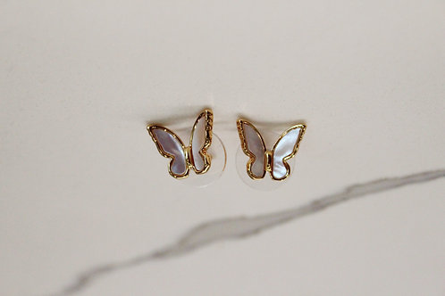 Marbled Butterfly Studs