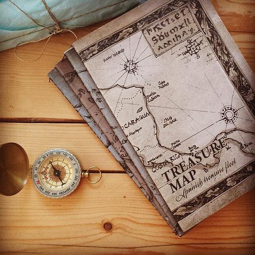 Treasure map Notebook  מחברת פיראטים