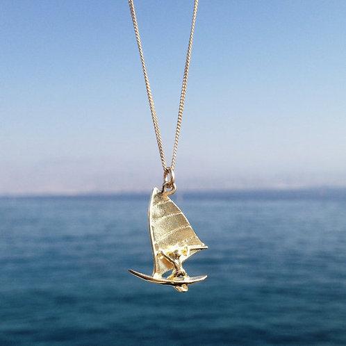 #Windsurf Necklace שרשרת גולש רוח כסף