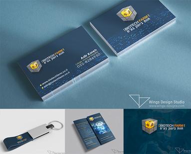 wings design studio logodesign biotechfa