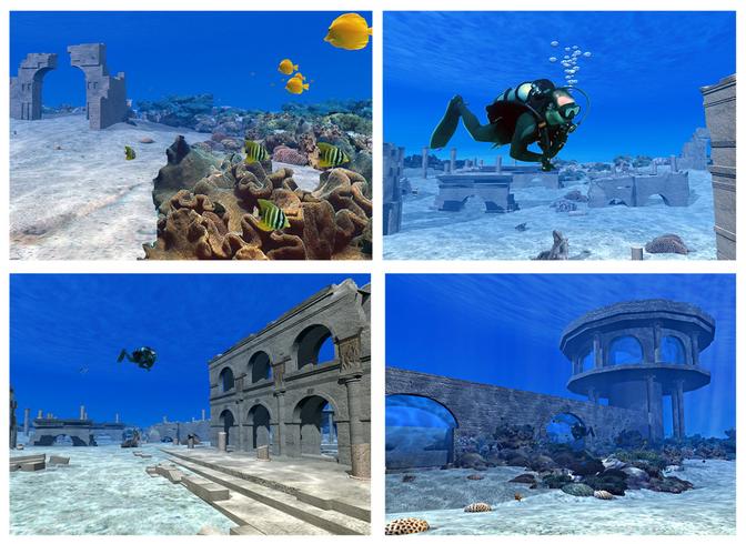 הדמיה תלת מימד ואנימציה למועדון צלילה