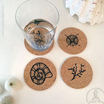 Cork Coaster Set