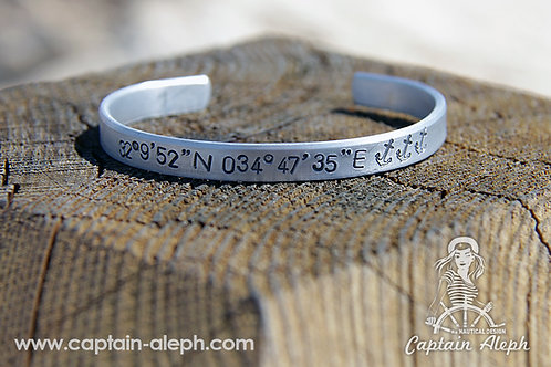 צמיד אישי - Coordinate Bracelets