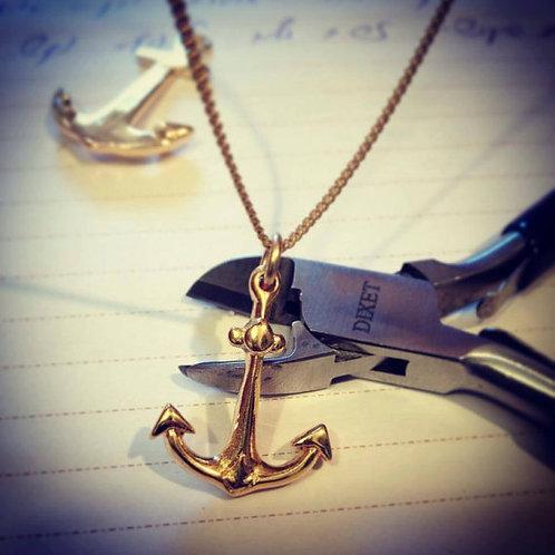 #Anchor Necklace שרשרת עם עוגן זהב