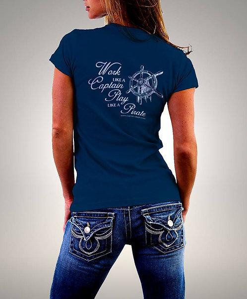 T-Shirt Captain Aleph 1258 חולצות מודפסות