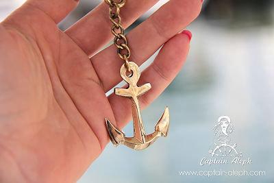 Anchor Key Chain - עוגן אדמירלי מחזיק מפתחות