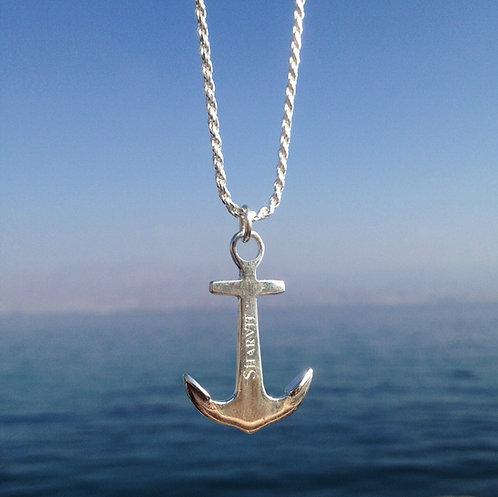#Anchor Necklace שרשרת עם עוגן כסף