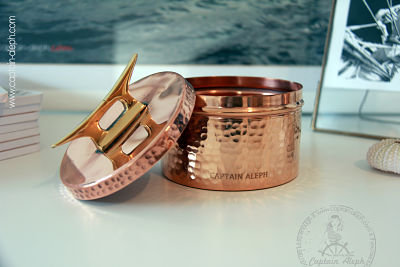Copper Jar with Boat Cleat | קופסת נחושת