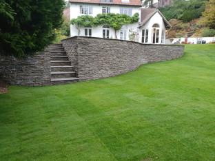 Turfed Lawn and Increedible Wall