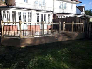 Decking With Metal Railing